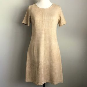 ETHEREAL faux suede dress